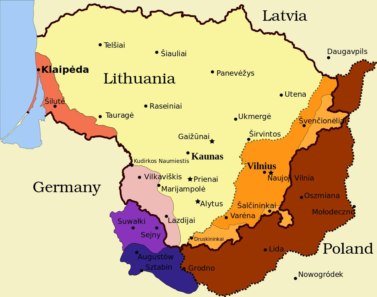 Kaunas Lituania Harta Hartă Kaunas Lituania Europa De Nord