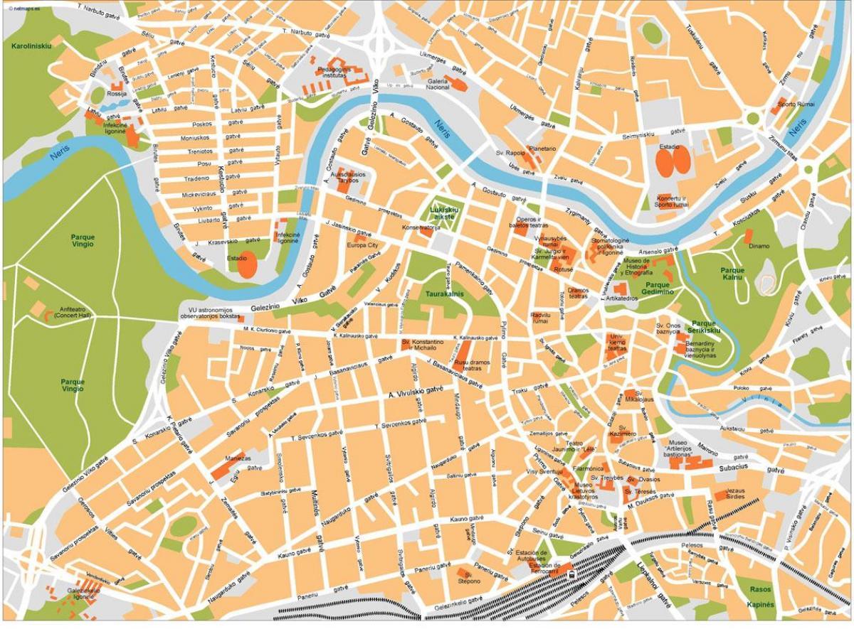 Vilnius Lituania Harta Hartă De La Vilnius Lituania Europa De