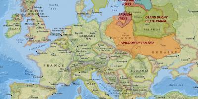 Lituania Hartă Hărți Lituania Europa De Nord Europa